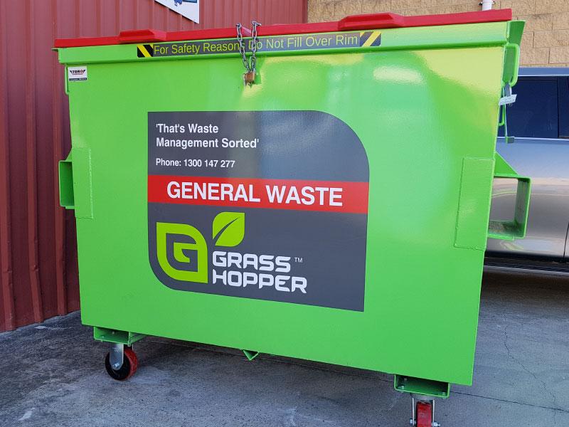 quality waste bins sticker